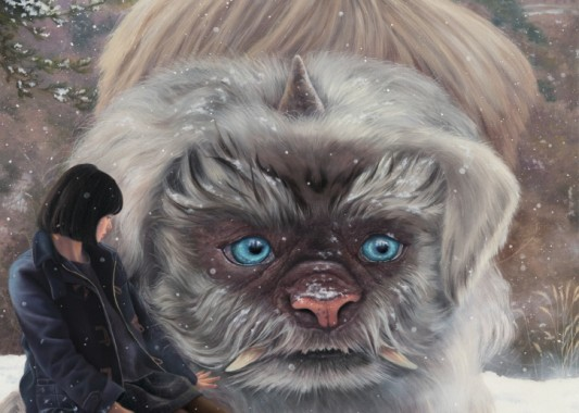 Flipped Guardian-Haechi  65.1X45.5cm  oil on canvas  2017